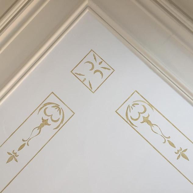 Ceiling after restoration