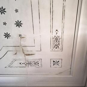 Ceiling before restoration