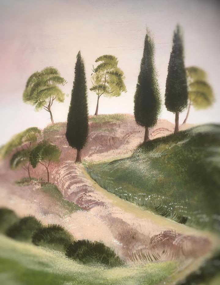 """"""" Landscape of Tuscany """" by Alice Lenaz."""