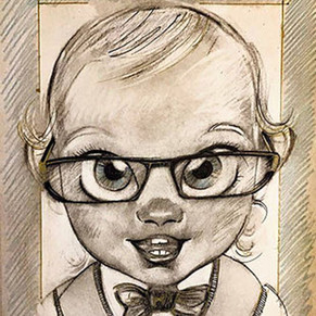 """ Cartoon portait "" by Alice Lenaz"