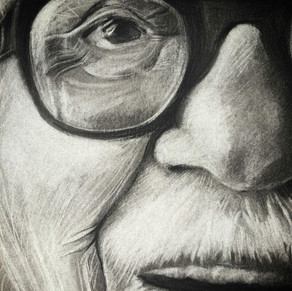 """detail of """" Toots Thielemans """"  by Alice Lenaz"""
