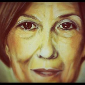 """ Portrait of a woman "" by Alice Lenaz"