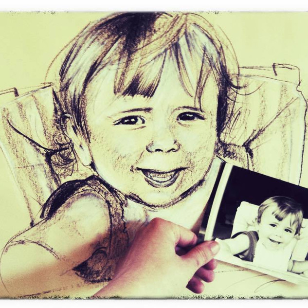 Children`s portrait by Alice Lenaz