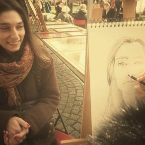 """Live portrait during """" Le jour du muguet """" Maastricht (NL)"""