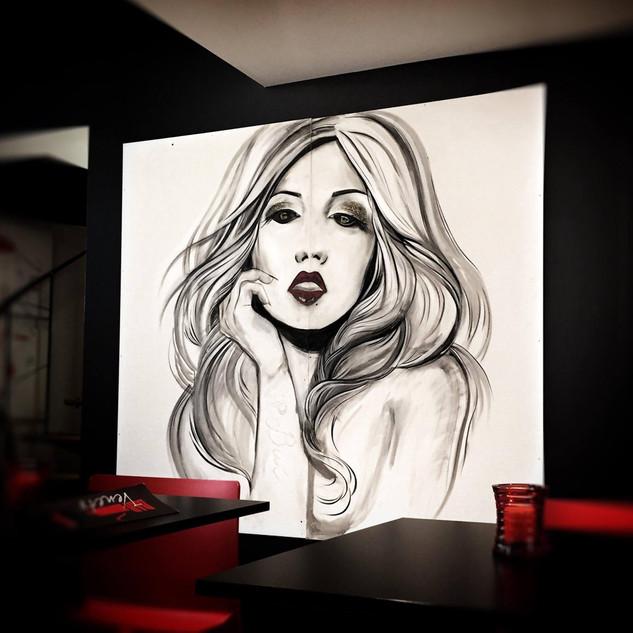 Decoration for Bar Veneto (Genk) by Alice Lenaz