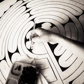 Floor decoration by Alice Lenaz