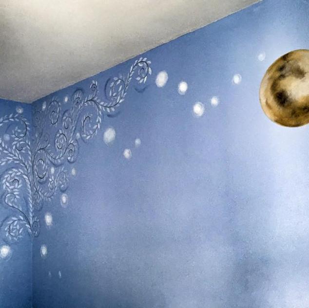 Children`s bedroom wall decoration