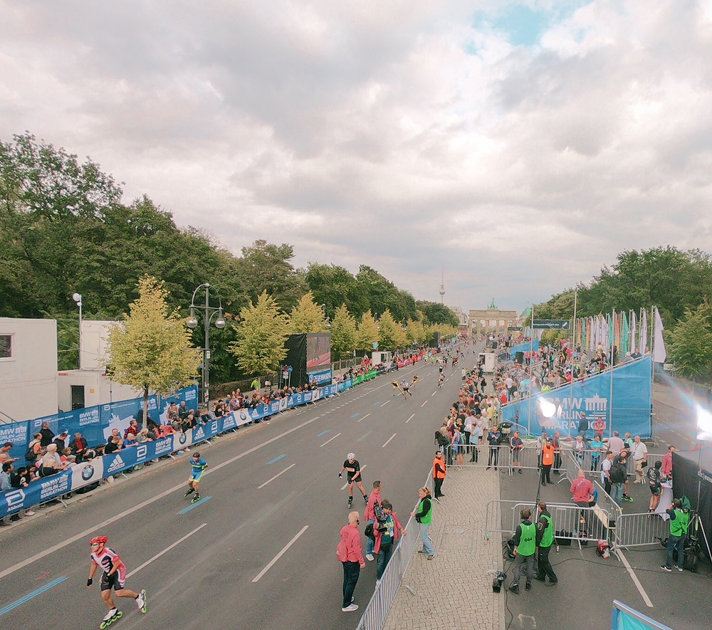 Zieleinlauf BMW Berlin Marathon Inlineskating