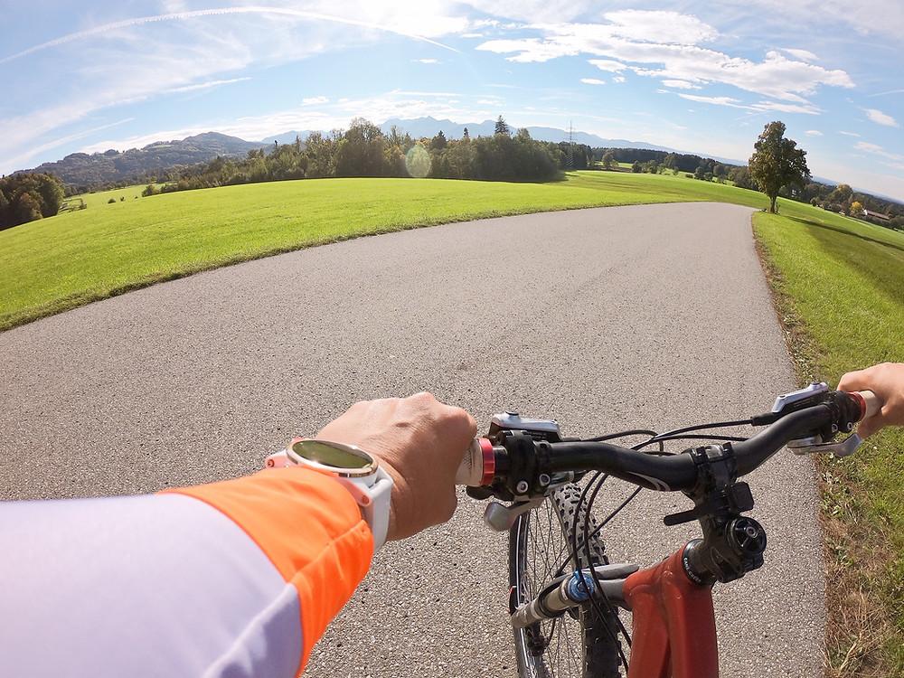 Die Fenix 5 S PLUS beim Mountainbiken