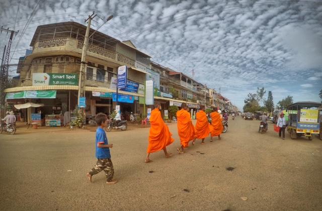 Mönche in Kampong Chhang