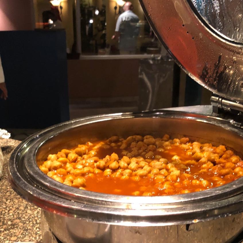 Traditionelle Küche beim Dinner
