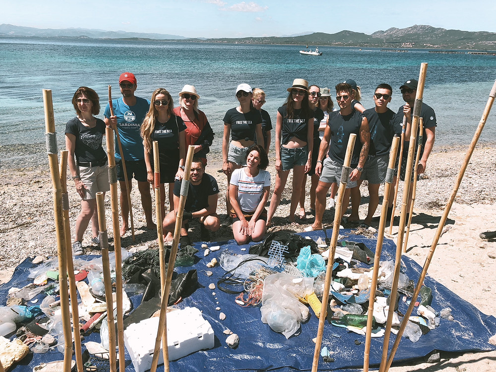 North Sails trashwalk on a wild beach in Sardegna