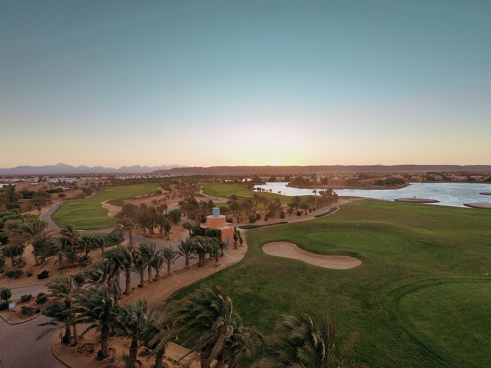 Sunset view from the El Gouna Golf Tower