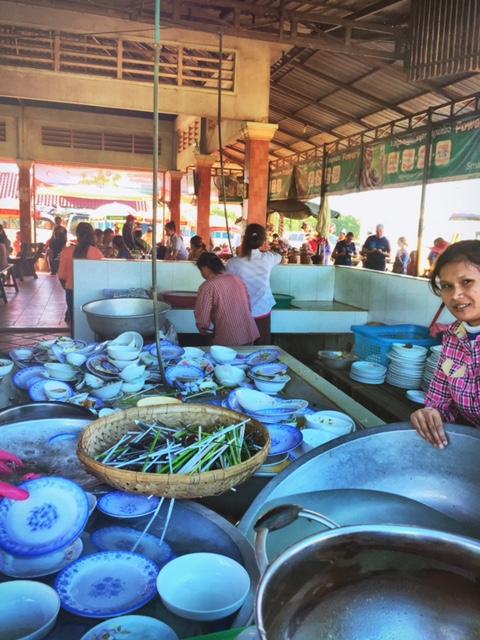 Markt auf dem Weg nach Siem Reap