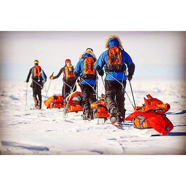 Race to the southpole in Dezember 2013 ..400 km on skiers against an Austrian team...was a great lifetime experience with up's and down's.