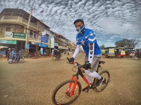 Erkundungstour mit dem Mountainbike @Kampong Chhang