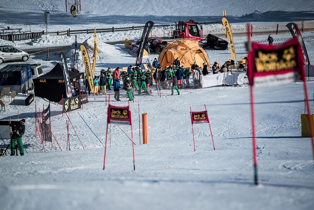 Die Slalomstrecke I Photocredit: Hansi Heckmair