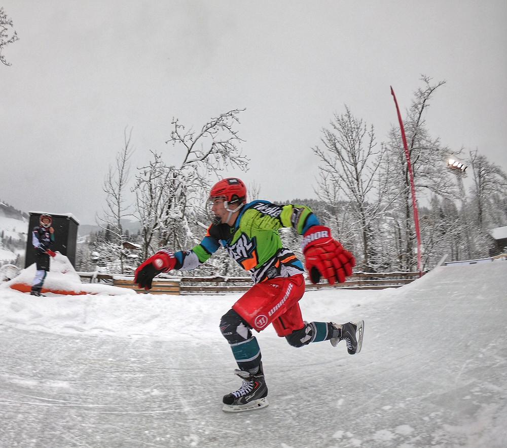 Rookie Luca on Ice
