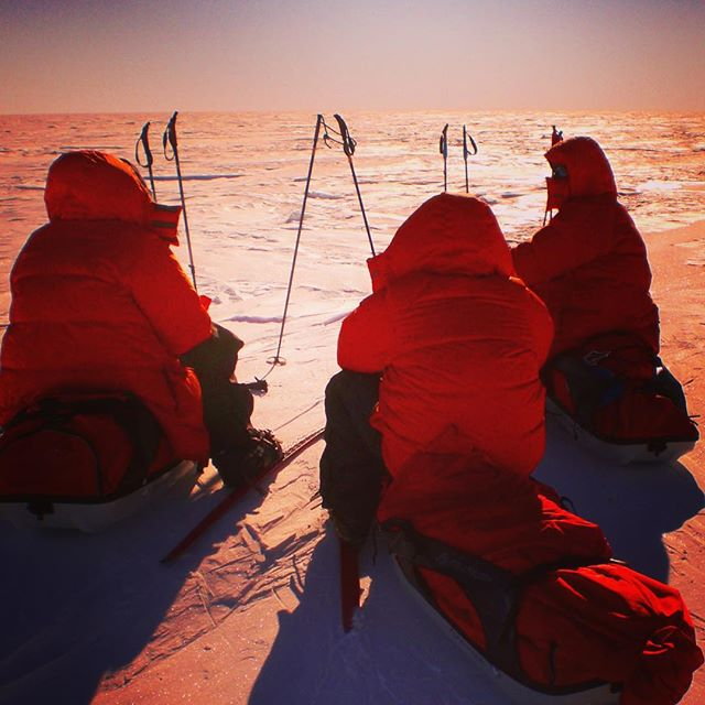#racetothesouthpole in Dezember 2013 ..400 km on skiers against an Austrian team...short 10 minute break for eat and drink every 2 hours.