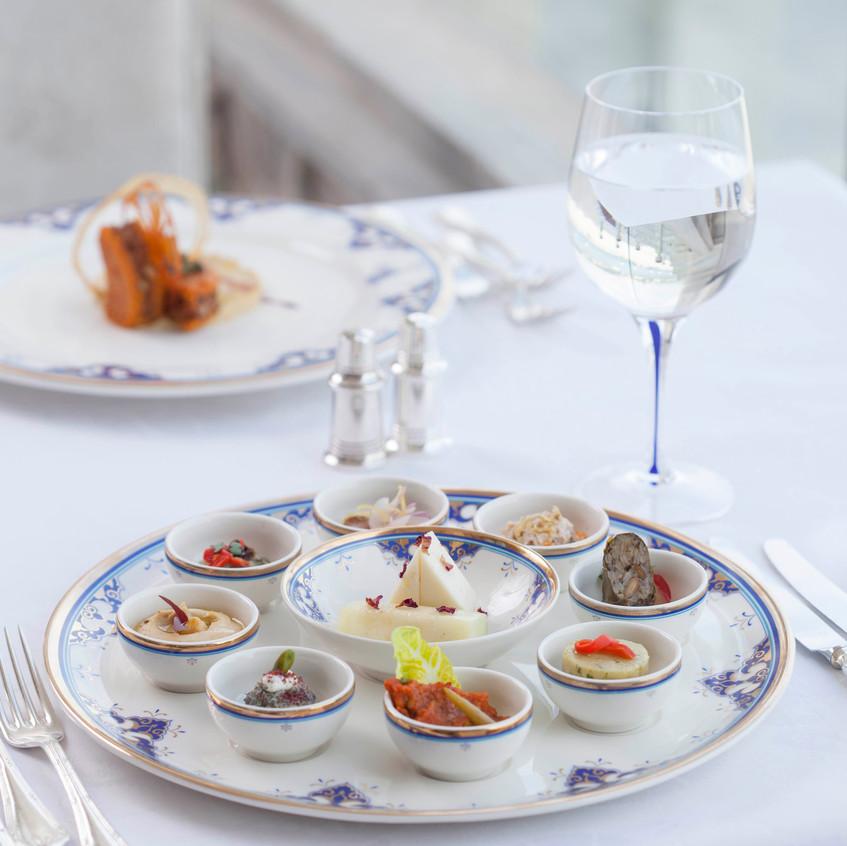 Dinner Plate Tugra Restaurant