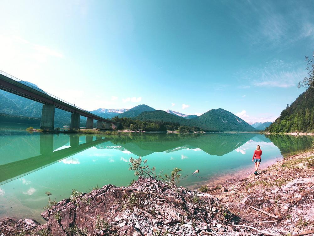 Sylvensteinsee - ein perfekter Spot für SUP und Fotos