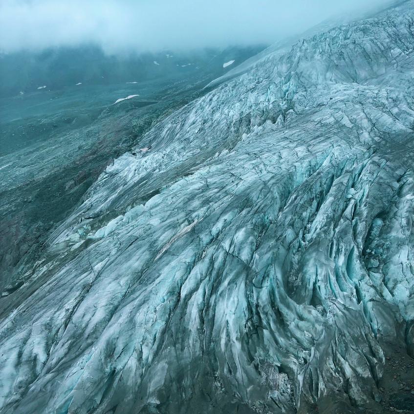 Gletscher an der Längflüh-Hütte