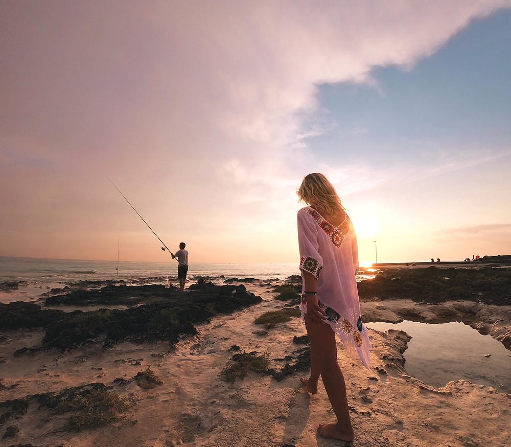 Sonnenuntergang am Spiagge Bianche