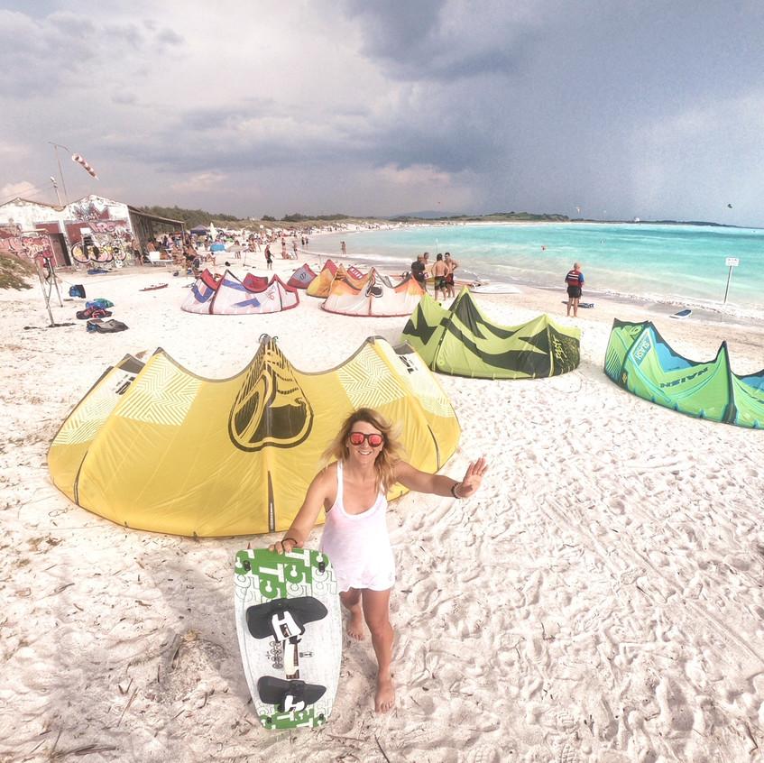 Kitesurf Bereich am Spiagge Bianche