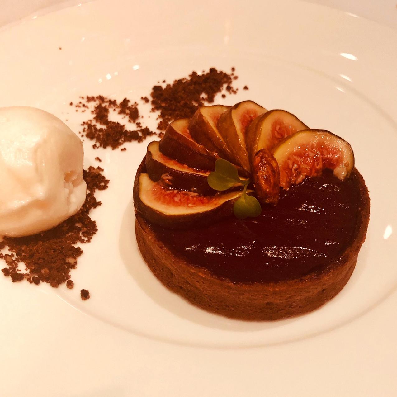 Dessert im Restaurant Wintergarten