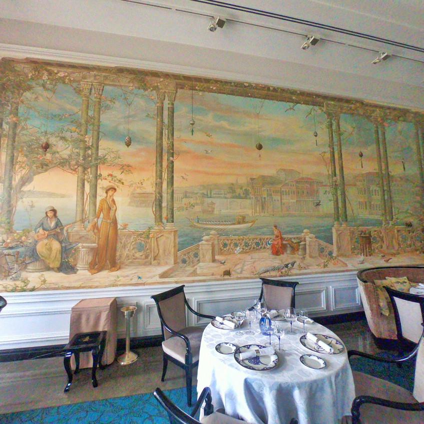 Wall Paintingsat Tugra Restaurant
