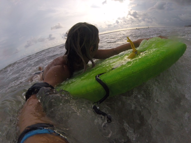 Body surfing at Dominical