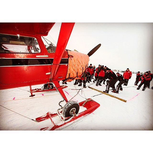 Nice memory .._Aircraft pulling_...on a frozen river...#fuldachallenge 2013 ...an #arctic #challenge in #Yukon ..