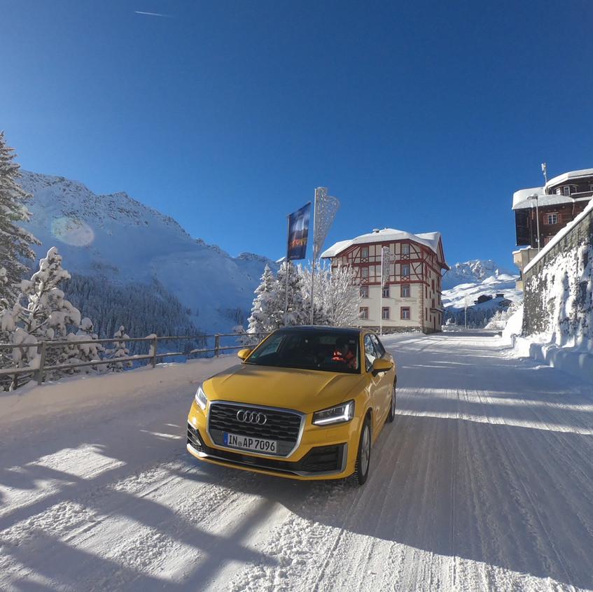Audi im Schnee - wie Schnee