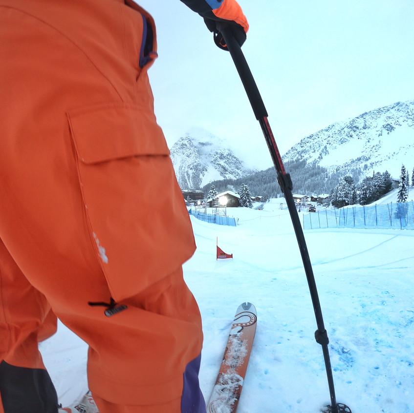 Abfahrt beim Skicross