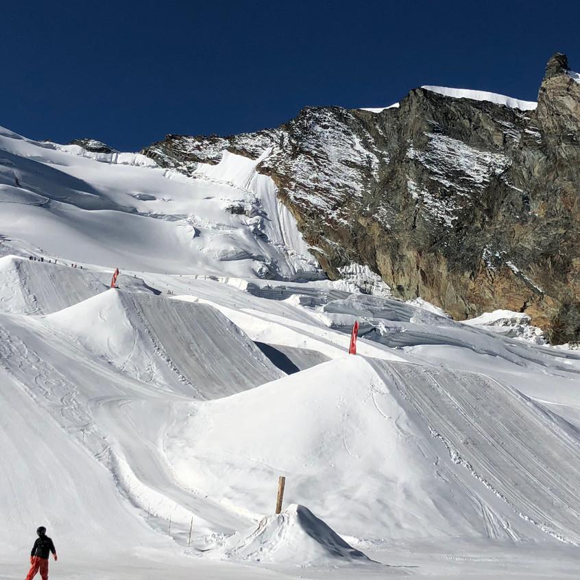 Snowpark in Saas Fee