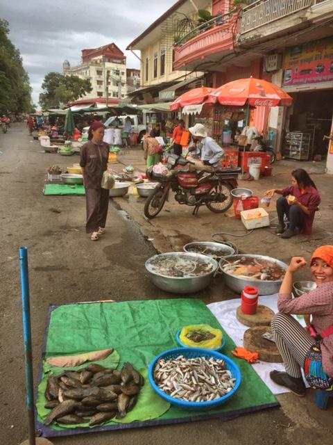 Seitenstraße irgendwo in Phnom Penh