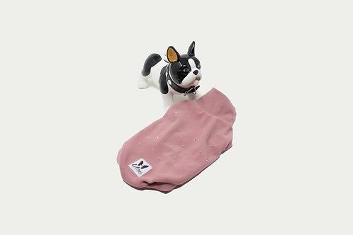 Maglioncino Bulldog Inglese - Micropile Cipria Luxury