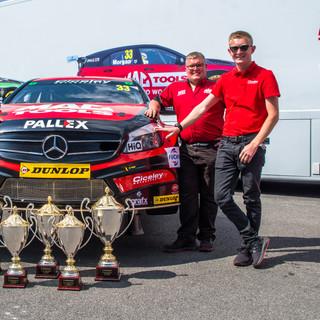 Ciceley Motorsport team and championship leading car.jpg