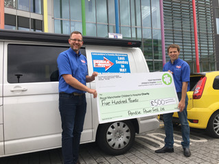 £500 Manchester Children's Hospital Donation Made