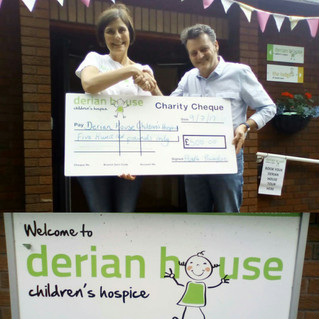 £500 Derian House Donation Made