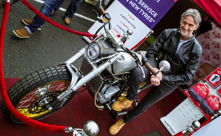 Car-tography - Foggy on his CCM Motorbik