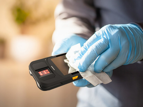 How to Properly Cleaning & Disinfecting Mobile Handheld Biometric Terminals
