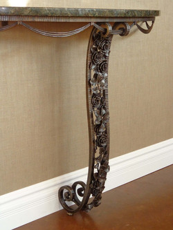 rose blossom console table
