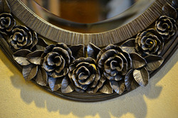 rose blossom mirror detail