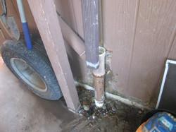 Disconnected plumbing