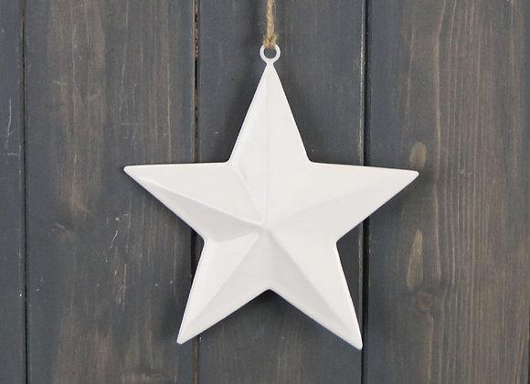 White Enamel Hanging Star