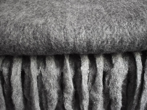 Grey Wool Mix Throw for Sofa or Bed Sale Price