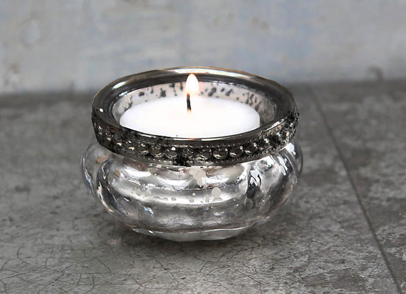 Mercury Tealight with Pearl Edging