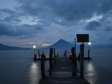 Guatamala Atitlan Gölü