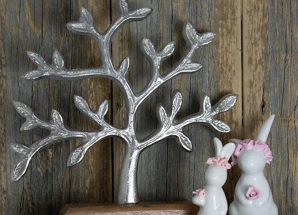 White Ceramic Rabbits and Tree of Life